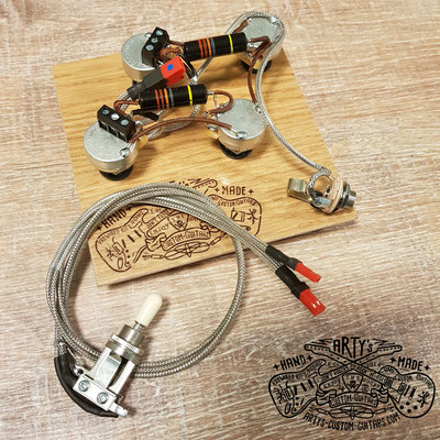 SOLDERLESS WIRING HARNESS LES PAUL BUMBLE BEE artys-custom-guitars.com