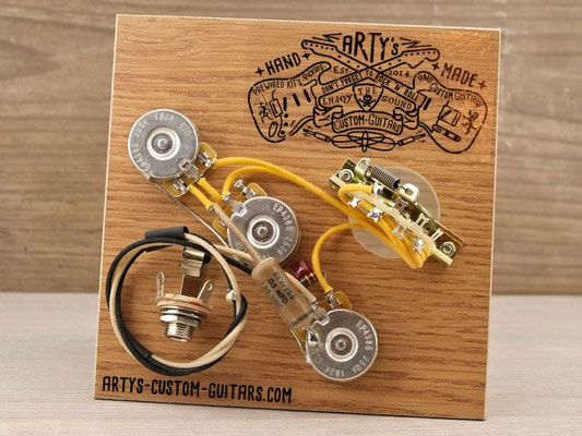 STRATOCASTER BRIDGE TONE PREWIRED KIT PREWIRED HARNESS Arty's Custom Guitars