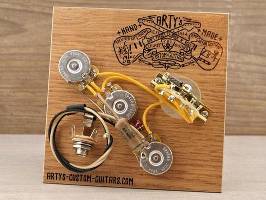 STRATOCASTER BRIDGE TONE PREWIRED KIT PREWIRED HARNESS Arty's Custom Guitars