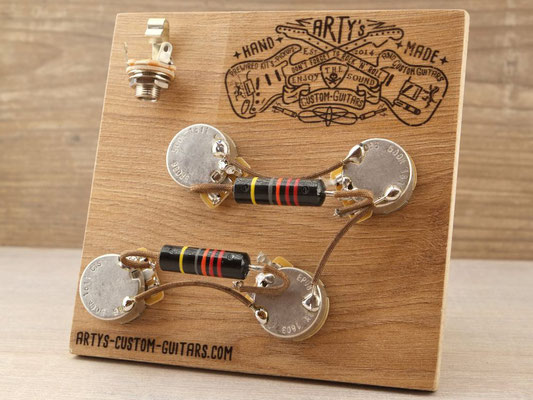 PREWIRED HARNESS LES PAUL BUMBLE BEE PREWIRED KIT Arty's Custom Guitars