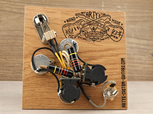 PREWIRED HARNESS GIBSON SG -COIL SPLIT artys-custom-guitars.com
