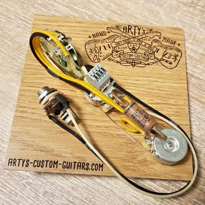 Cocked Wah ESQUIRE SOLDERLESS WIRING HARNESS Arty's Custom Guitars www.artys-custom-guitars.com