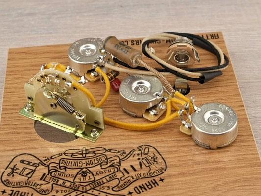 PREWIRED KIT STRATOCASTER Bridge Tone PREWIRED HARNESS Arty's Custom Guitars