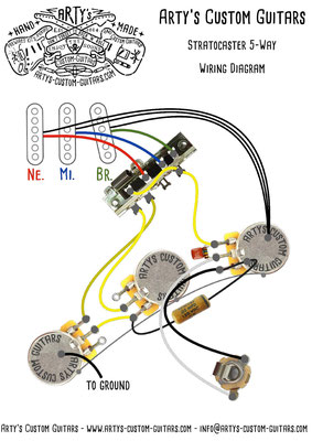 STRATOCASTER Wiring Diagram 5-Way artys-custom-guitars.com