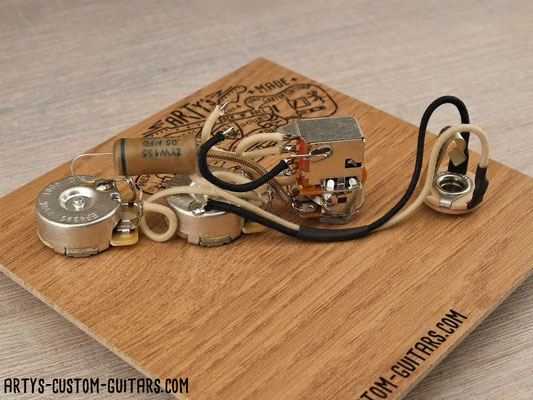 Prewired Kit JAZZ BASS SERIES PARALLEL Arty's Custom Guitars