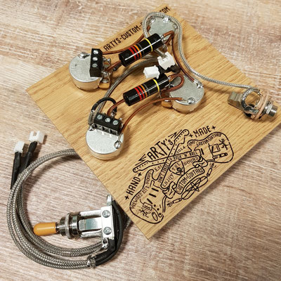 Solderless Les Paul Prewired Kit www.artys-custom-guitars.com