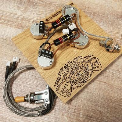 Solderless Les Paul Prewired Kit www.artys-custom-guitars.com
