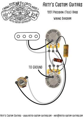 1951 Precision Bass Wiring Diagram www.artys-custom-guitars.com