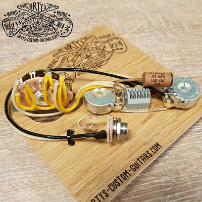 SOLDERLESS PREWIRED KIT TELECASTER 3-Way REVERSE Tele Arty's Custom Guitars