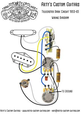 Wiring Diagram TELECASTER Dark Circuit Tele artys-custom-guitars.com