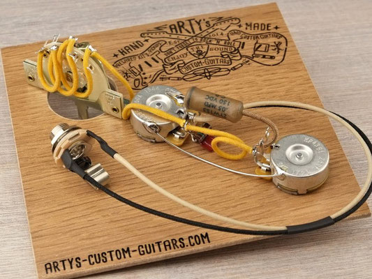 PREWIRED HARNESS TELECASTER 3-Way Tele PREWIRED KIT Arty's Custom Guitars