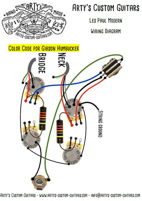 Les Paul Wiring Diagram Modern www.artys-custom-guitars.com