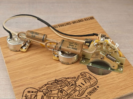 PREWIRED KIT TELECASTER Dark Circuit 1953-65 PREWIRED HARNESS artys-custom-guitars.com