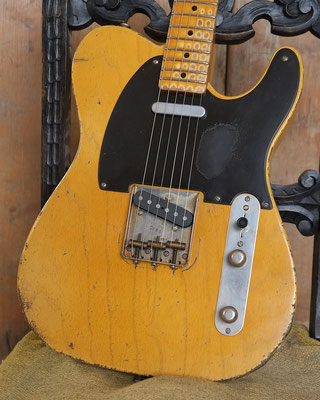Broadcaster Nocaster Relic Repro Butterscotch Telecaster Arty's Custom Guitars