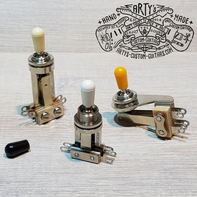 Prewired 3-Way Toggle Switch- www.artys-custom-guitars.com