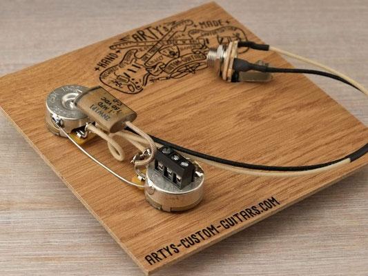 PREWIRED KIT SOLDERLESS PRECISION BASS 1951 TELE PREWIRED HARNESS artys-custom-guitars.com