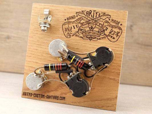 PREWIRED HARNESS LES PAUL COIL SPLIT BUMBLE BEE artys-custom-guitars.com