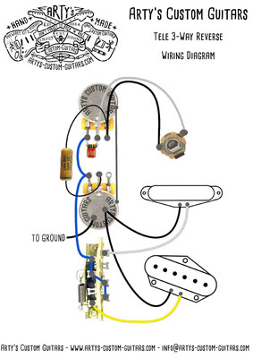Telecaster 3-Way REVERSE Wiring Diagram Arty's Custom Guitars