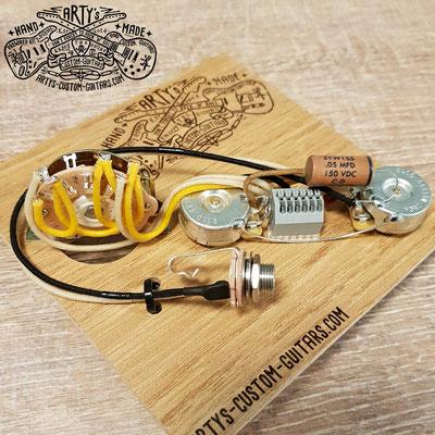 SOLDERLESS WIRING HARNESS TELECASTER 3-Way REVERSE Tele Arty's Custom Guitars