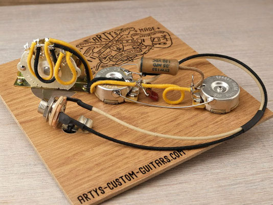 PREWIRED KIT TELECASTER 4-Way REVERSE  Tele PREWIRED HARNESS artys-custom-guitars.com