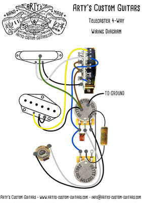 Tele 4 Way Wiring Diagram www.artys-custom-guitars.com