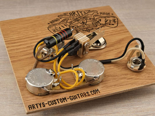 PREWIRED GUITAR HARNESS FLYING V 1967 BUMBLE BEE artys-custom-guitars.com