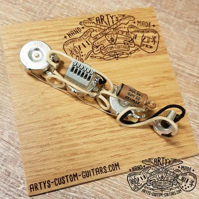 PREWIRED KIT SOLDERLESS JAZZ BASS artys-custom-guitars.com