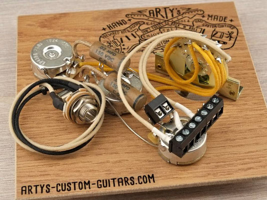 SOLDERLESS PREWIRED HARNESS STRATOCASTER 2x Tone Split PREWIRED KIT artys-custom-guitars.com