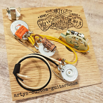 WIRING HARNESS STRATOCASTER PTB Passive Treble Bass Control  Lo/Hi Cut Strat PREWIRED HARNESS artys-custom-guitars.com