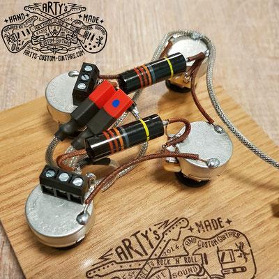SOLDERLESS PREWIRED KIT LES PAUL BUMBLE BEE artys-custom-guitars.com