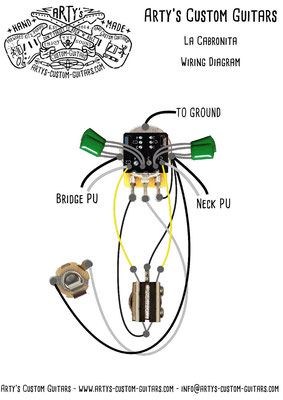 La Cabronita wirining diagram S1-Switch  Alternative Arty's Custom Guitars