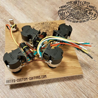 WIRING HARNESS LES PAUL Jimmy Page BUMBLE BEE www.artys-custom-guitars.com