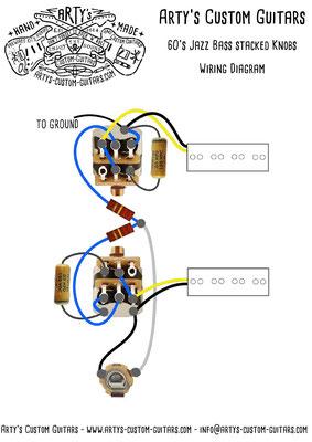 jazz bass wiring diagram stacked knobs 1960 artys-custom-guitars com