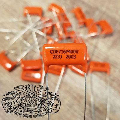 Orange Drop Guitar Tone Capacitor www.artys-custom-guitars.com