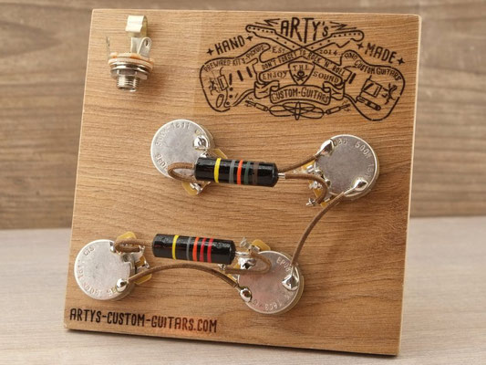 PREWIRED HARNESS LES PAUL Woman Tone BUMBLE BEE PREWIRED KIT artys-custom-guitars.com