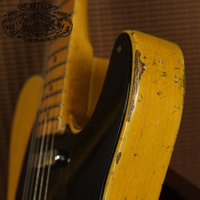 Nocaster Broadcaster Relic Repro Butterscotch Telecaster Arty's Custom Guitars