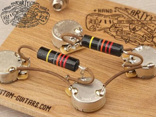 PREWIRED KIT LES PAUL 50 BUMBLEBEE PREWIRED HARNESS artys-custom-guitars.com