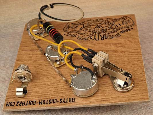 GUITAR WIRING HARNESS Flying V 1958 BUMBLE BEE artys-custom-guitars.com