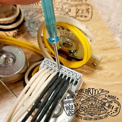 Solderless Prewired Kit super easy wiring terminal artys-custom-guitars.com