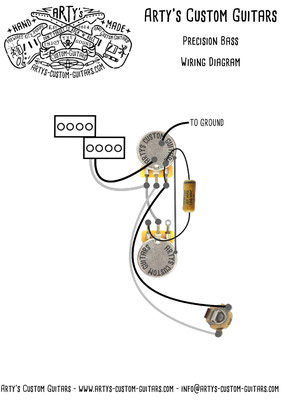 Wiring Diagram P-Bass www.artys-custom-guitars.com