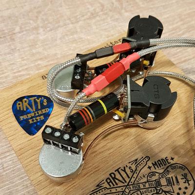 Les Paul Solderless Coil Split Wiring Harness artys-custom-guitars.com