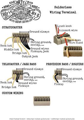 Solderless Wiring Terminal WIRING HARNESS artys-custom-guitars.com
