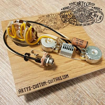 Solderless Tele Prewired Kit super easy wiring terminal www.artys-custom-guitars.com