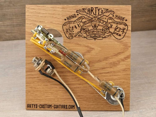 PREWIRED HARNESS ESQUIRE Tele Telecaster  artys-custom-guitars.com
