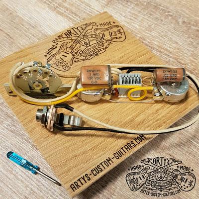 SOLDERLESS PREWIRED KIT TELECASTER Dark Circuit artys-custom-guitars.com