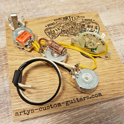 SOLDERLESS WIRING HARNESS STRATOCASTER Passive Treble Bass Control Arty's Custom Guitars
