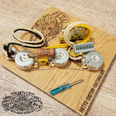 SOLDERLESS PREWIRED KIT STRATOCASTER Blender artys-custom-guitars.com