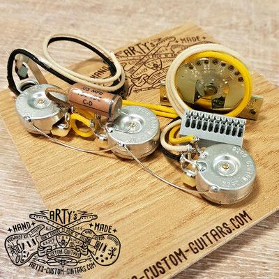 Solderless Strat Prewired Kit super easy wiring terminal Arty's Custom Guitars