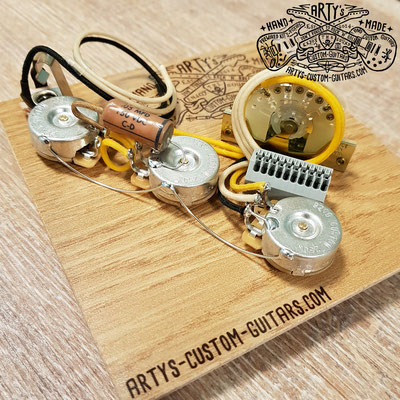 SOLDERLESS WIRING HARNESS STRATOCASTER Strat Bridge Tone Arty's Custom Guitars