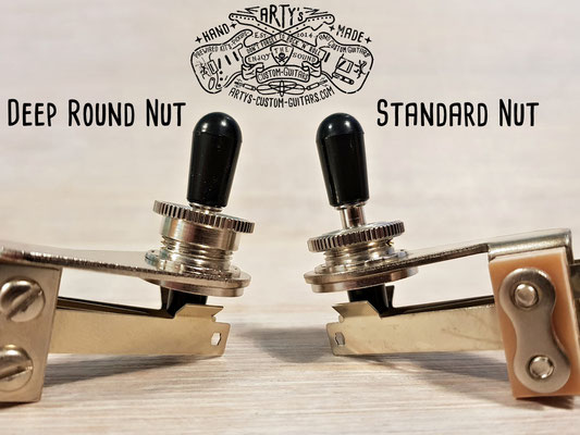 Deep Thread Round Nut for Switchcraft Toggle